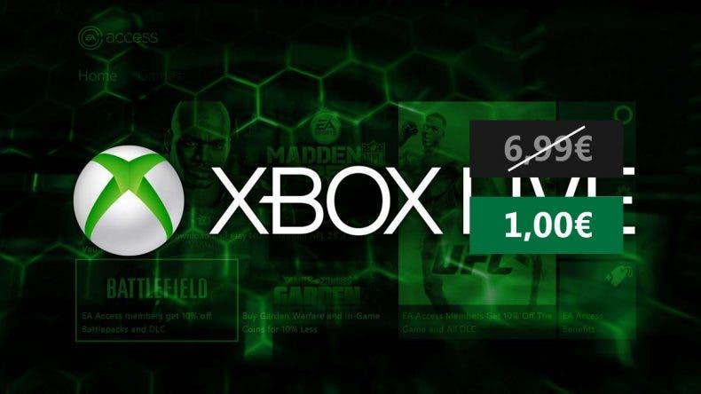 Consigue 1 mes de Xbox Live Gold por solo 1€ 1