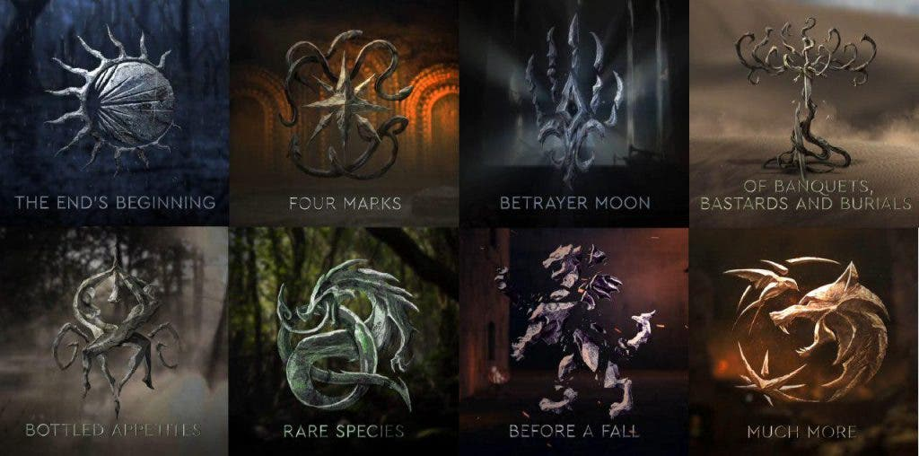Así son los logos de los capítulos de The Witcher en Netflix 2