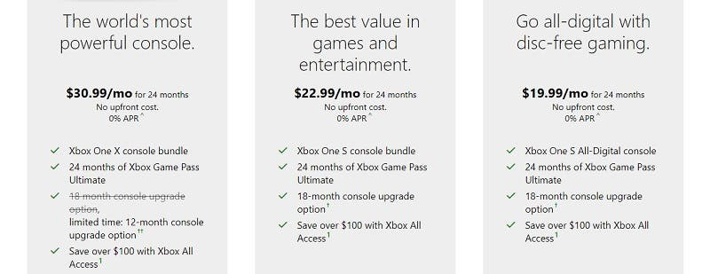 Nuevo cambiazo de Xbox One X a Xbox Scarlett, por tiempo limitado, con Xbox All Access 1