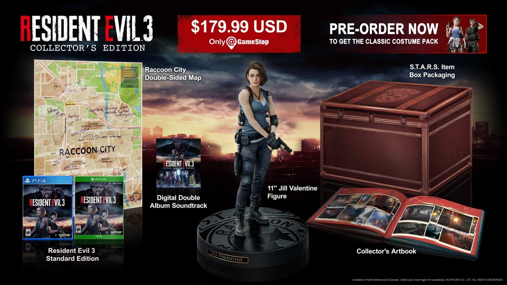 Así es la Edición Coleccionista de Resident Evil 3 2