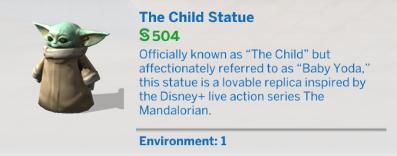 Baby Yoda conocido por la serie de Disney+ The Mandalorian, está disponible en Los Sims 4 2