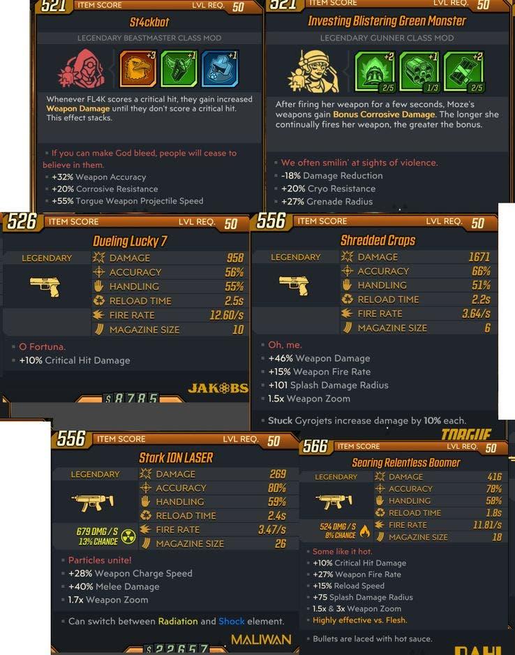 Nuevas armas legendarias del DLC de Borderlands 3