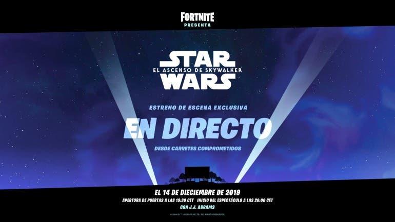 Qué hacer para ver la escena exclusiva de Star Wars El Ascenso de Skywalker en Fortnite 2