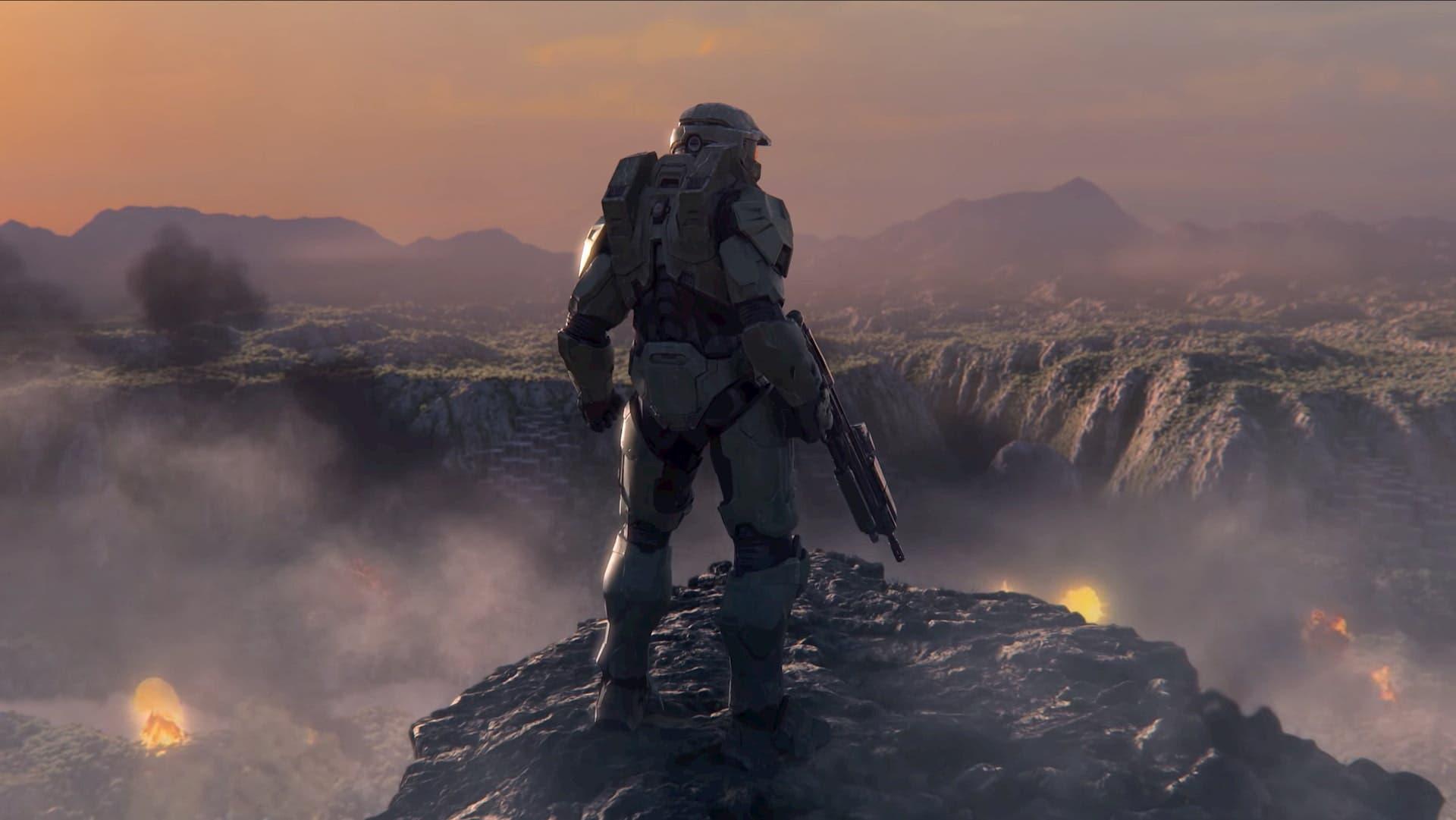 Montaje de Halo durante la p`presentación de Xbox Series X