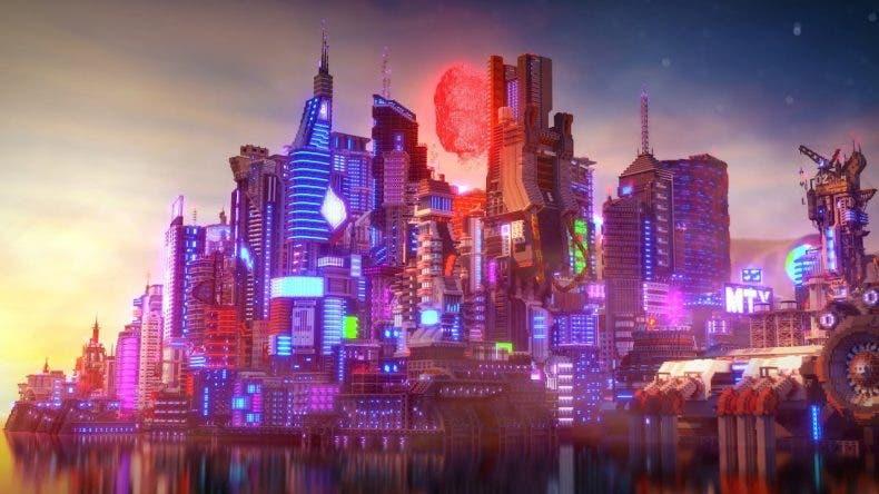 Night City, la ciudad de Cyberpunk 2077 llegará a Minecraft y es una obra de arte 1