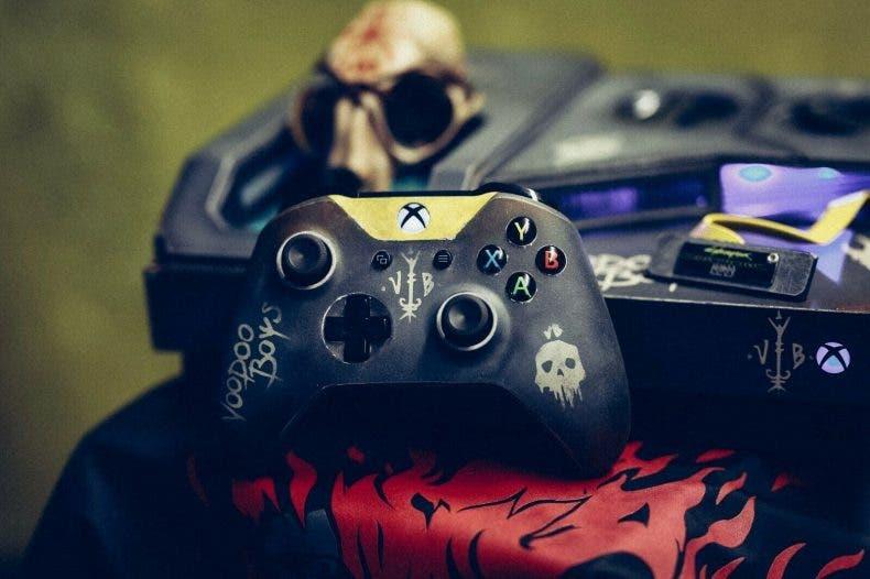 Se subasta una Xbox One X custom de Cyberpunk 2077 1