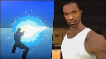CJ de GTA San Andreas también vapulea enemigos en Dragon Ball Z Kakarot gracias a un increíble mod 2