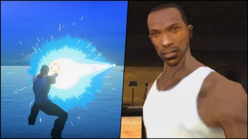 CJ de GTA San Andreas también vapulea enemigos en Dragon Ball Z Kakarot gracias a un increíble mod 1
