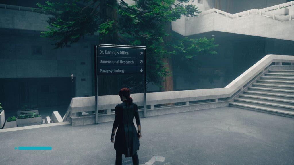 Indicaciones in-game de los escenarios de Control