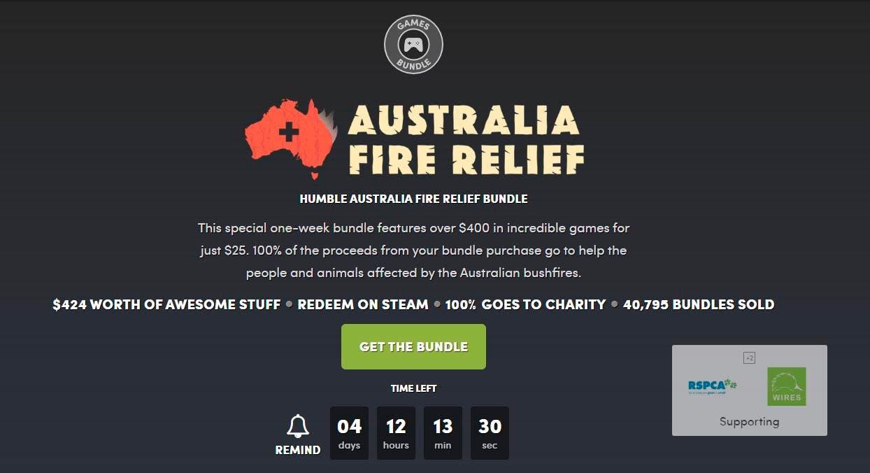 Ayuda a Australia adquiriendo este enorme bundle de juegos en Humble Bundle