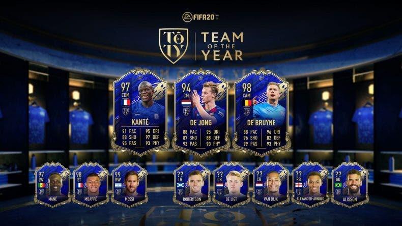 Ya están disponibles los centrocampistas TOTY de FIFA 20 1