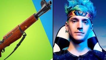 Ninja necesita una vieja arma para poder ganar a los jugadores con mando en Fortnite 15