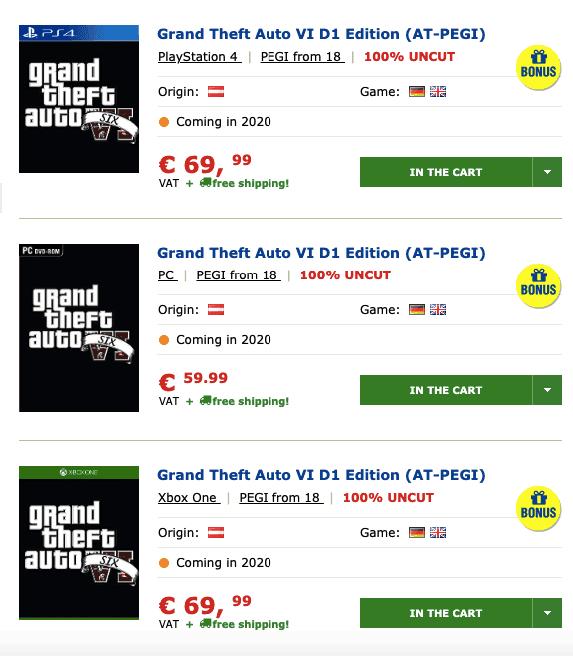 Se ha filtrado el lanzamiento de GTA VI junto a la edición D1 para Xbox One 2