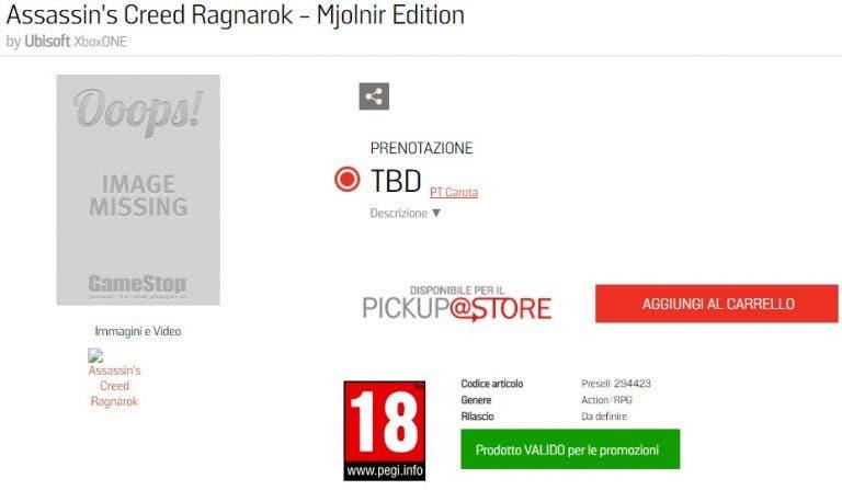 Se ha filtrado el lanzamiento de Assassin's Creed Ragnarok junto a la edición coleccionista Mjolnir 1
