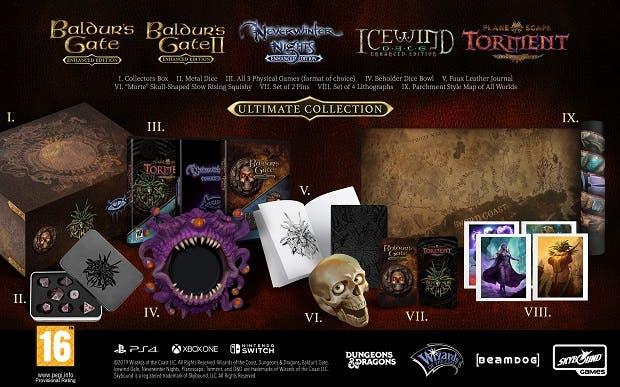 Así es la edición coleccionista de Baldur's Gate, Neverwinter Nights y más, exclusivas de Game 5