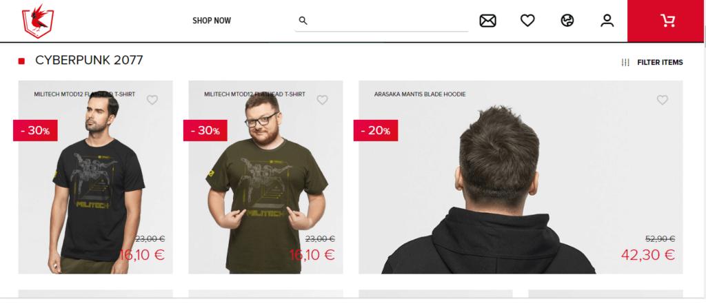 Hasta un 30 % de descuento en artículos de CD Projekt Red 2