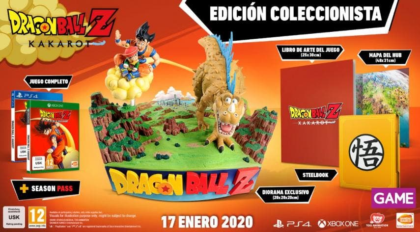 Estas son todas las ediciones de Dragon Ball Z Kakarot que podemos conseguir en GAME 2