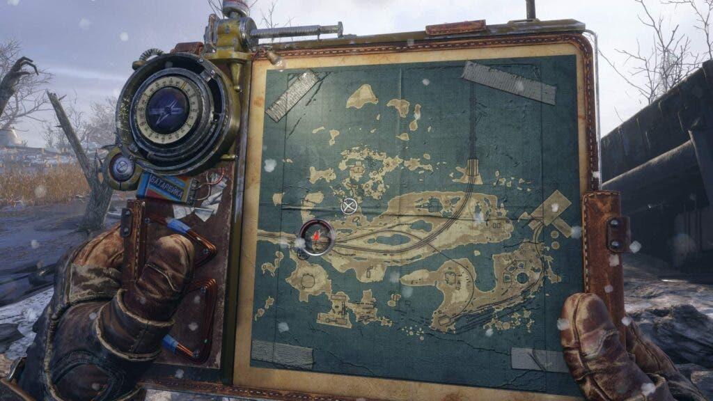 Captura del mapa de Metro Exodus