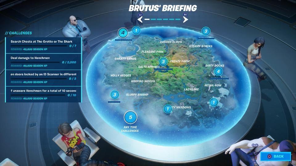 Cómo completar los desafíos de la semana 1 de Informe de Brutus en Fortnite Capítulo 2