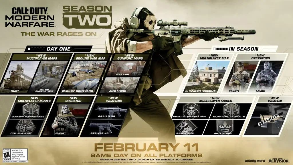 Desveladas todas las novedades de la temporada 2 de Call of Duty: Modern Warfare 2