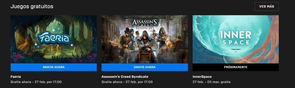 Assassin's Creed: Syndicate y Faeria están disponibles gratis en la Epic Games Store 1