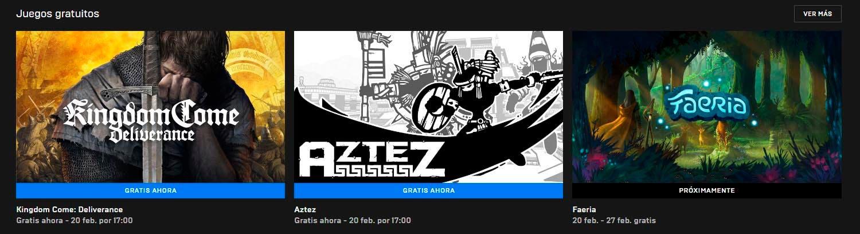 Consigue gratis Kingdom Come Deliverance y Aztez vía Epic Games Store 1