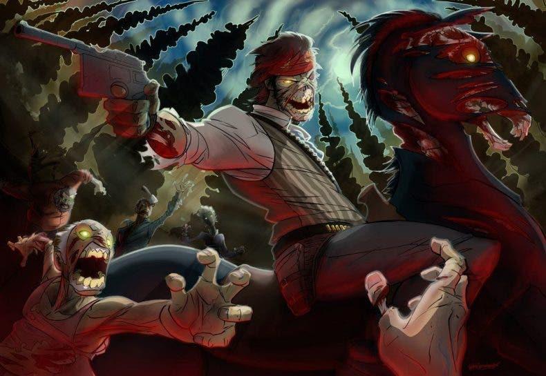 Unos siniestros esqueletos de dos cabezas están atacando por sorpresa a los vaqueros de Red Dead Online