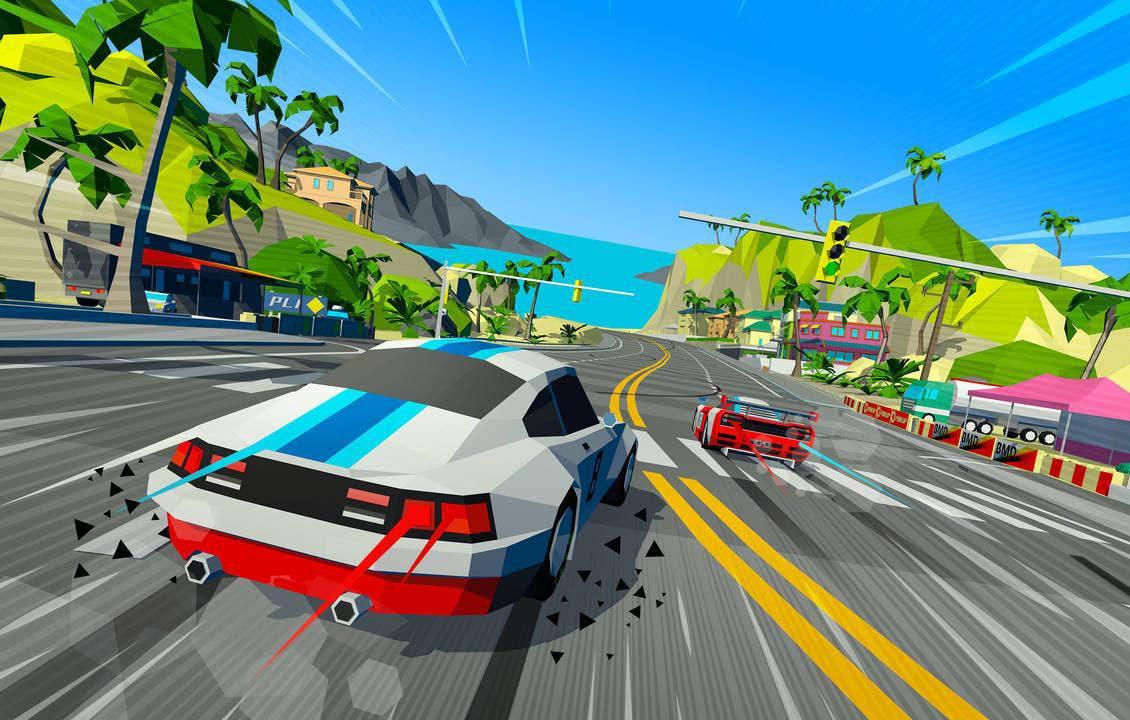 El juego de carreras retro y arcade Hotshot Racing llegará a Xbox One 9