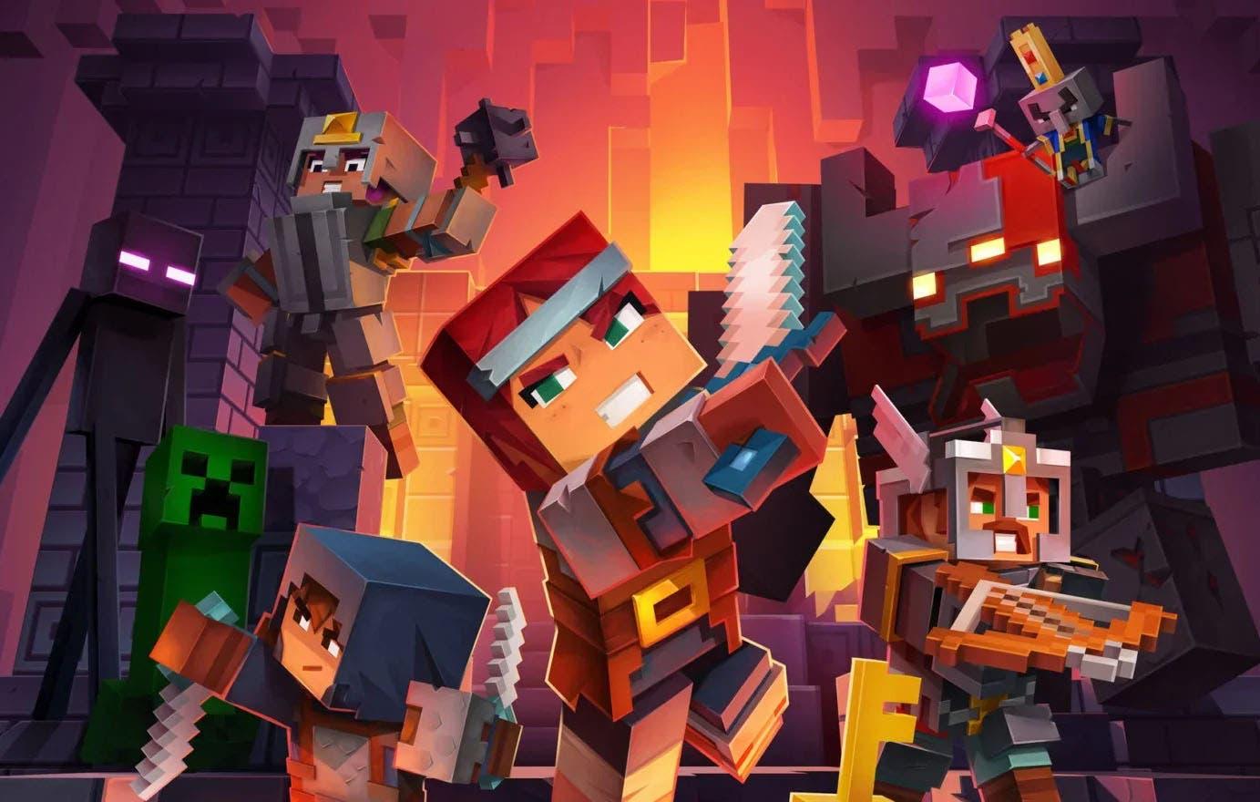 Minecraft Dungeons se muestra en acción en un nuevo gameplay 7