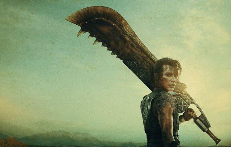 Poster de la película de Monster Hunter con Mila Jovovich