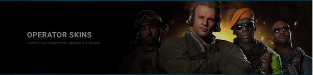 skins de operadores de la segunda temporada de Call of Duty Modern Warfare