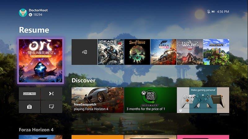 Xbox One se actualiza con un nuevo menú de inicio 2