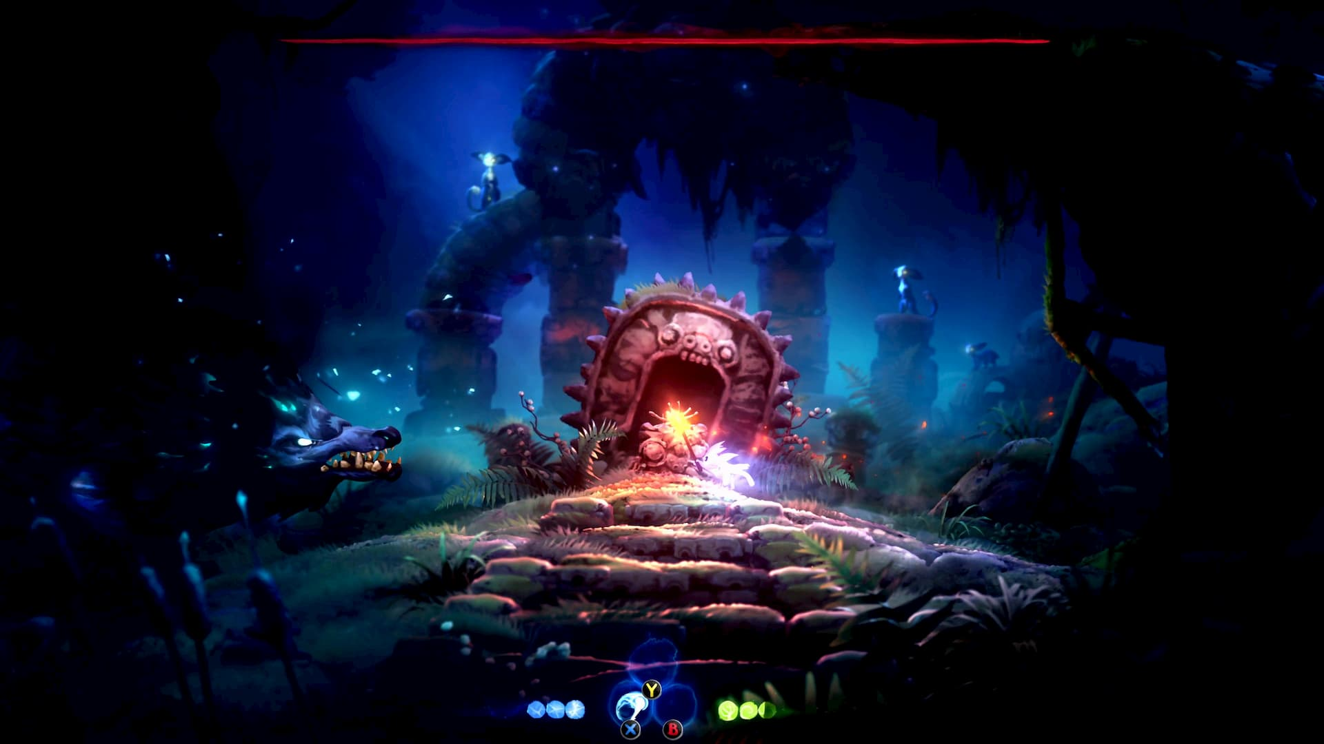 Combate contra jefe en Ori and the Will of the Wisps
