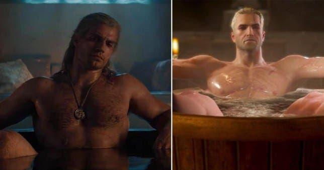 Henruy Cavill explica las diferencias de la escena de la bañera de The Witcher frente a la del juego