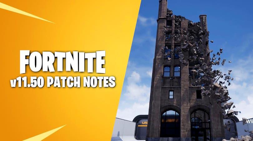 El motor Unreal Engine Chaos Physics llega a Fortnite con la actualización 11.50 1