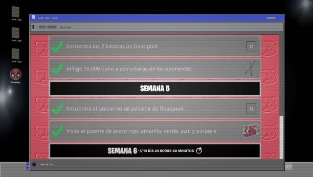 Cómo completar los desafíos de la semana 5 de Deadpool en Fortnite Capítulo 2