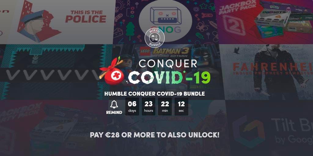 Humble Bundle presenta un extenso pack para ayudar a combatir el COVID-19 1