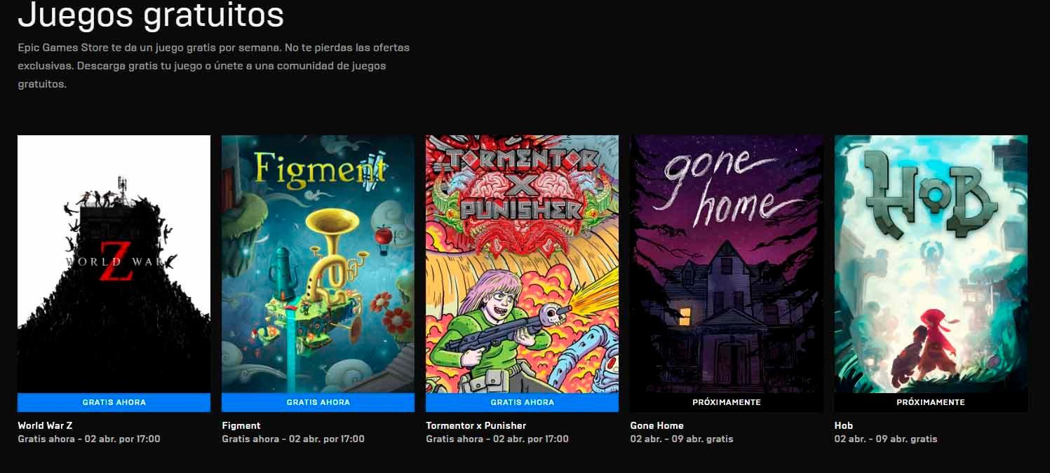 nuevos juegos gratuitos de la Epic Games Store 26 de marzo de 2020