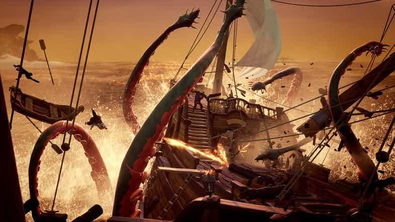 Cómo derrotar al Kraken en Sea of Thieves