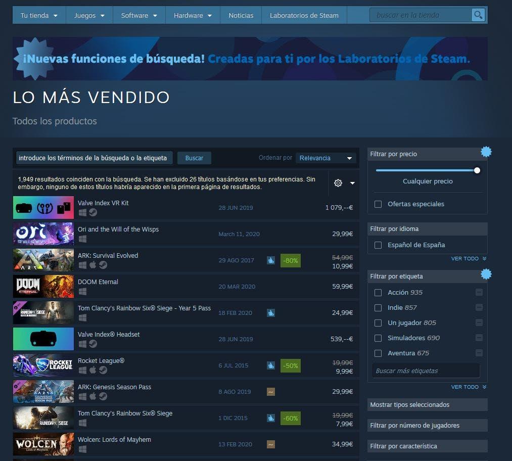Ori and the Will of the Wisps es el juego más vendido en Steam