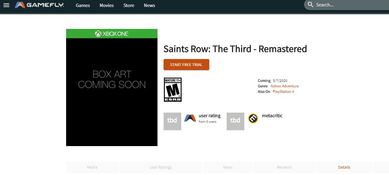 Saints Row: The Third Remastered aparece listado en un comercio para mayo 2