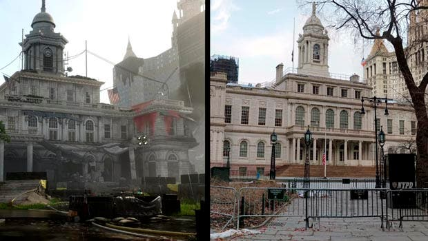 Comparan la recreación de Nueva York de The Division 2 con la realidad 1