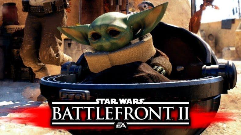 Un increíble mod nos permite eliminar Stormtroopers como Baby Yoda en Star Wars Battlefront 2 1