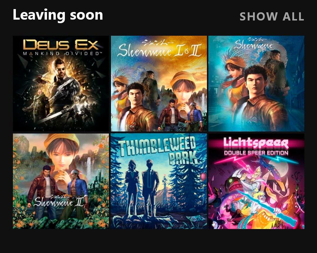 Ya se conoce cuáles son los próximos juegos en abandonar Xbox Game Pass 2