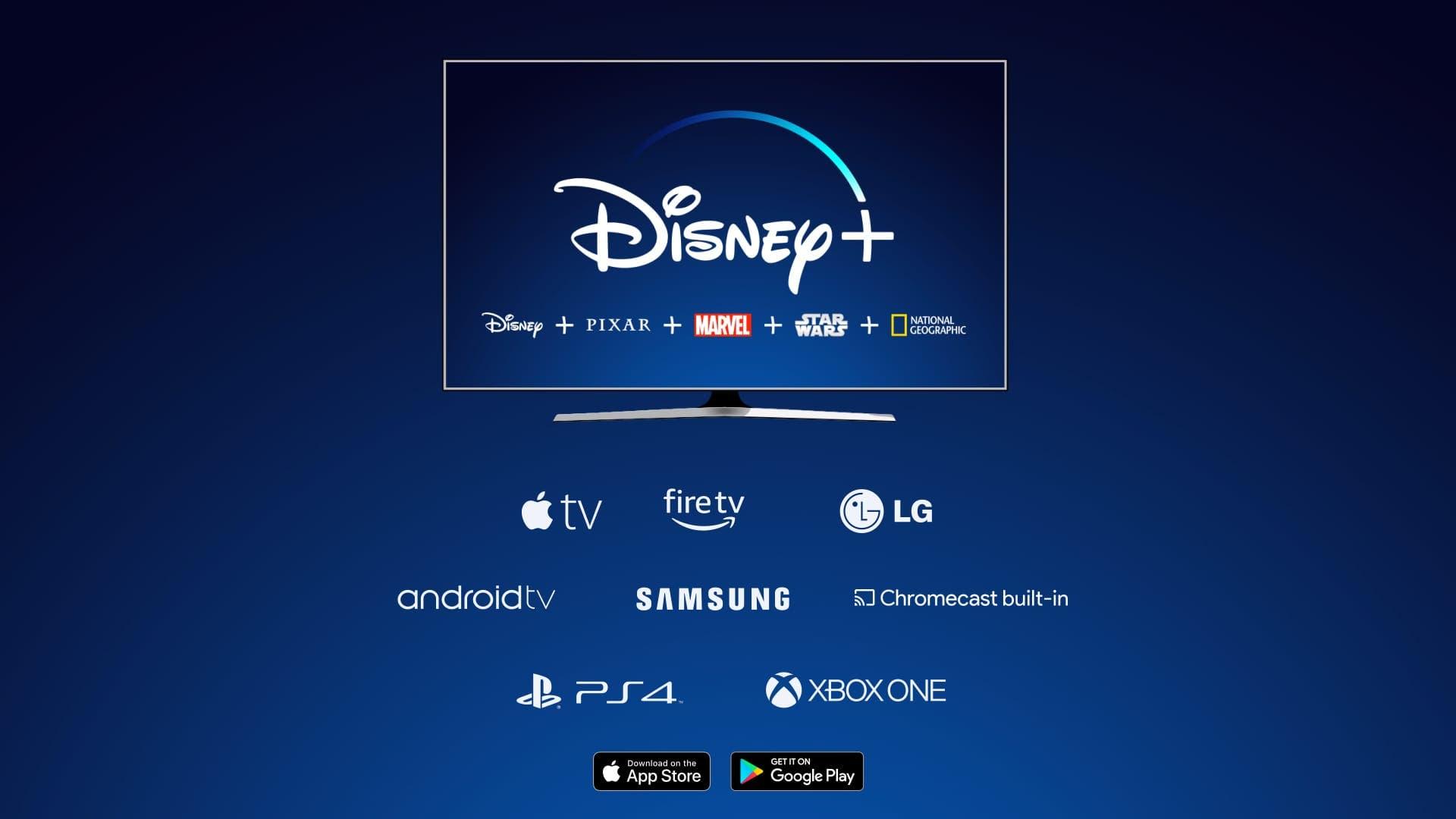 Confirmadas todas las plataformas de la aplicación de Disney+ 2