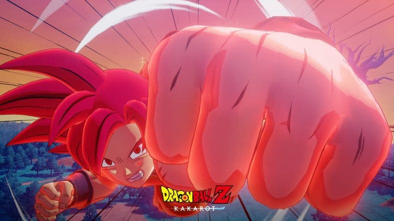 Super Saiyan Dios Goku en el primer DLC de Dragon Ball Z: Kakarot