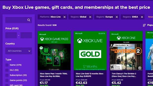 Aprovecha las ofertas de Eneba.com para ahorrar en tus compras de Xbox 2