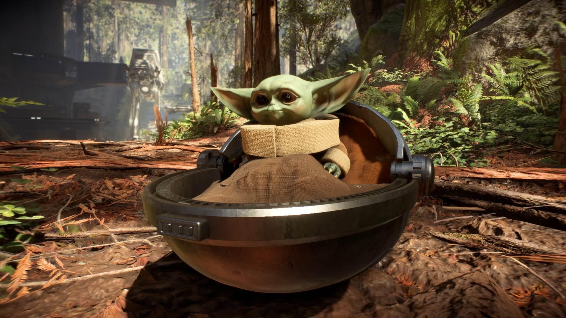 Un increíble mod nos permite eliminar Stormtroopers como Baby Yoda en Star Wars Battlefront 2