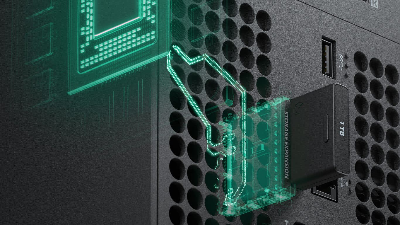 Microsoft explica el almacenamiento externos de juegos en Xbox Series X