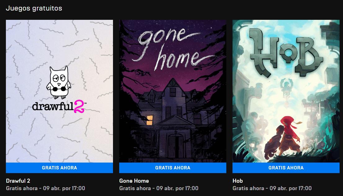 Estos son los 3 nuevos juegos gratuitos de la Epic Games Store
